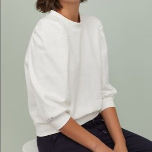 H&M Puff Sleeve Sweatshirt